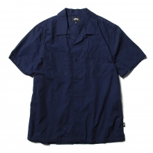 STUSSY / ステューシー | Open Collar Shirt - Navy