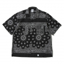 BEDWIN / ベドウィン | S/S PATCH WORKED BANDANA SHIRT 「MONK」 - Black