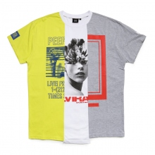 ELVIRA / エルビラ | MULTI REMAKE T-SHIRT - C (Yellow × White × Grey)