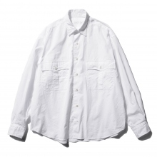 Porter Classic / ポータークラシック | ROLL UP SHIRT - White ☆