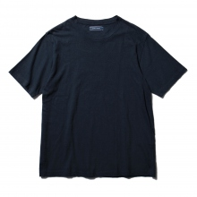 Living Concept / リビングコンセプト | COTTON LINEN BASIC T-SHIRT - Navy ★