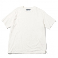 Living Concept / リビングコンセプト | COTTON LINEN BASIC T-SHIRT - White ★