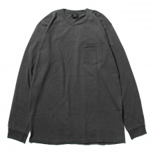 STUSSY / ステューシー | Camo Stock Pig. Dyed PKT LS Tee - Black