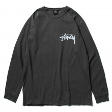 STUSSY / ステューシー | Stock Pig. Dyed Ls Tee - Black