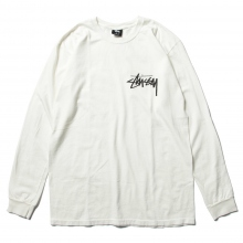 STUSSY / ステューシー | Stock Pig. Dyed Ls Tee - Natural
