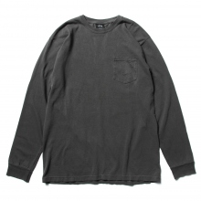 STUSSY / ステューシー | Double Dragon P Dyed PKT LS Tee - Black