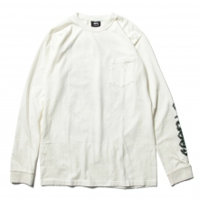 STUSSY / ステューシー | Double Dragon P Dyed PKT LS Tee - Natural