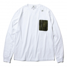 HABANOS / ハバノス | MILITARY  POCKET L/SL Tee - White