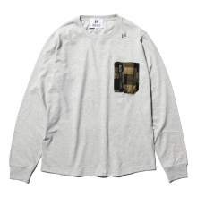 HABANOS / ハバノス | MILITARY  POCKET L/SL Tee - Gray
