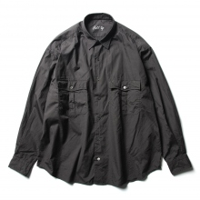 Porter Classic / ポータークラシック | ROLL UP DOT SHIRT - Black