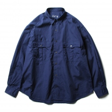 Porter Classic / ポータークラシック | ROLL UP DOT SHIRT - Blue