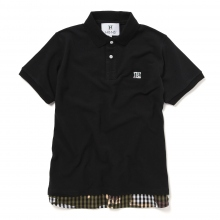 HABANOS / ハバノス | LAYERED POLO SHIRTS - Black