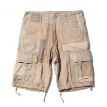 ....... RESEARCH | Patched Cargo Shorts - Beige