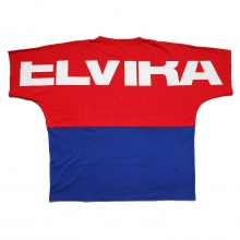 ELVIRA / エルビラ | 2TONE DOLMAN T-SHIRT - Red × Blue