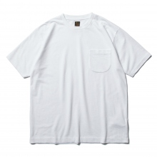 BATONER / バトナー | TWIST HIGH GAUGE TERRY POCKET T-SHIRT (メンズ) - White