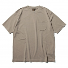 BATONER / バトナー | TWIST HIGH GAUGE TERRY POCKET T-SHIRT (メンズ) - Grege