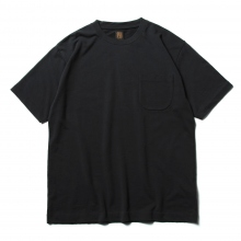 BATONER / バトナー | TWIST HIGH GAUGE TERRY POCKET T-SHIRT (メンズ) - Charcoal
