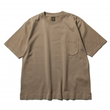 BATONER / バトナー | STANDING KNIT CREW NECK T-SHIRT (メンズ) - Brown