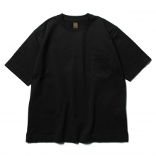 BATONER / バトナー | STANDING KNIT CREW NECK T-SHIRT (メンズ) - Black
