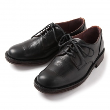 MOTO / モト | Wステッチ外羽根 Plain Toe Oxford Shoes #1632 - Black