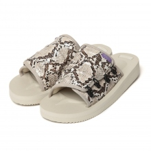 NEPENTHES | Suicoke × Purple Label - Elastic Strap Sandal w/A-B Vibram - Python Embossed - White