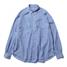 Porter Classic / ポータークラシック | ROLL UP TRICOLOR GINGHAM CHECK SHIRT - Blue