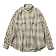 Porter Classic / ポータークラシック | ROLL UP TRICOLOR GINGHAM CHECK SHIRT - Gold