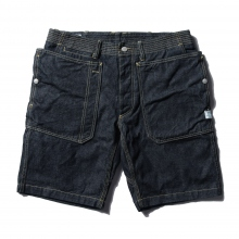 SASSAFRAS / ササフラス | FALL LEAF SPRAYER PANTS 1/2 - 13.5oz Denim - Indigo ★