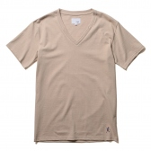 NuGgETS / ナゲッツ|V Neck Tee -「Nuggetskun」 - Beige