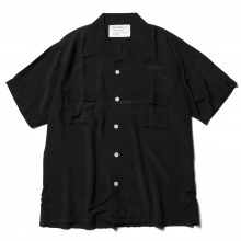 ....... RESEARCH | Open Collar S/S - H.I.T.M. Rayon - Black