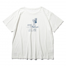 Porter Classic / ポータークラシック | T-SHIRT / NEWTON BAG NINOMIYA KINJIRO - White