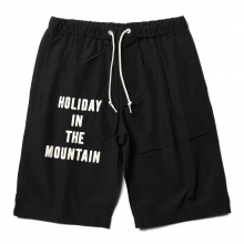 ....... RESEARCH | Baggy Shorts - H.I.T.M. - Black