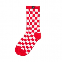 STUSSY / ステューシー | Checker Socks - Red / White