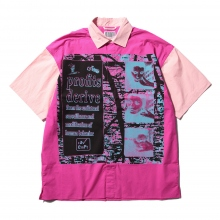 C.E / シーイー | COMMODIFICATION SHORT SLEEVE SHIRT - Pink