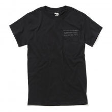 COW BOOKS / カウブックス | Pocket T-shirt - Black × Black