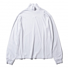 AURALEE / オーラリー | SEAMLESS HI NECK L/S TEE - White