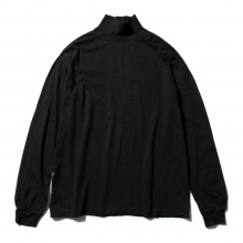AURALEE / オーラリー | SEAMLESS HI NECK L/S TEE - Black