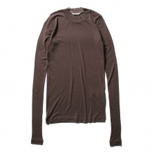AURALEE / オーラリー | HIGH GAUGE SHEER RIB L/S TEE (レディース) - Dark Brown
