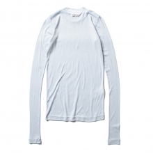 AURALEE / オーラリー | HIGH GAUGE SHEER RIB L/S TEE (レディース) - Light Blue