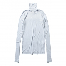 AURALEE / オーラリー | HIGH GAUGE SHEER RIB TURTLE NECK L/S TEE (レディース) - Light Blue