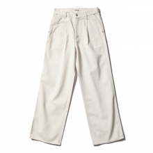 AURALEE / オーラリー | HARD TWIST DENIM WIDE SLACKS - White × Ivory