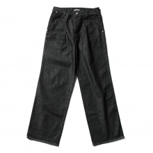 AURALEE / オーラリー | HARD TWIST DENIM WIDE SLACKS - Black × Top Gray