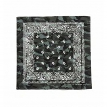 and wander / アンドワンダー | printed bandanna reflect - Black