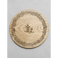 ....... RESEARCH | Anarcho Cups 030 - Wood Lid (for Plate) - Beige