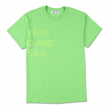 WIND AND SEA / ウィンダンシー | WIND AND SEA CLASSIC logo TEE - Lime