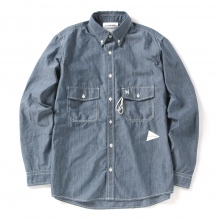 and wander / アンドワンダー | PL dungaree shirt (M) - Blue