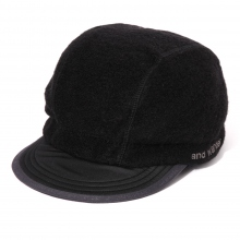 and wander / アンドワンダー | air wool cap - Black