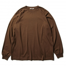 AURALEE / オーラリー | LUSTER PLAITING L/S TEE - Brown