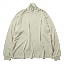 AURALEE / オーラリー | LUSTER PLAITING HI NECK L/S TEE - Light Green