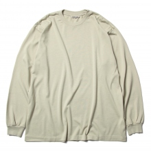 AURALEE / オーラリー | LUSTER PLAITING L/S TEE - Light Green